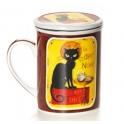 Tisanière le chat noir